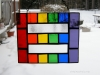 Reverse rainbow equality stained glass