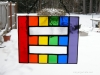Equality rainbow stained glass in in reverse