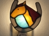 Stained glass horse and shoe nightlight