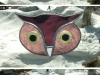 Large stained glass owl suncatchers
