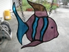 Stained Glass angel fish sun catcher