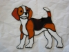 stained glass beagle