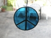 Stained glass peace ornament