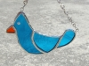 small blue bird ornament