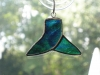 Stained glass whale tail ornament