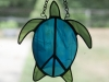 Stained glass peace turtle