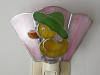 yellow duck stained glass nightlight