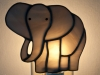 Stained glass elephant nightlight