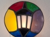 Stained glass Wellesley College lamp nightlight