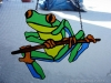 frog stained glass