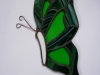 side view stained glass butterfly