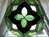 geometric floral stained glass