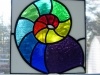 stained glass nautlius rainbow