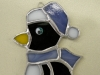stained glass penguin, ornament