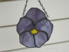 stained glass purple pansy