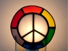Stained glass peace sign nightlight