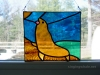 stained glass sea lion