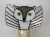 Snowy/white flying owl stained glass nightlight