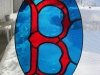 Boston Red Sox stained glass