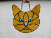 stained glass cat face