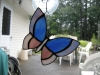 front view stained glass butterfly