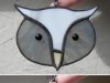 Stained glass small owl face suncatchers