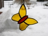 Stained glass butterfly ornament