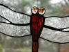 red/orange stained glass dragonfly