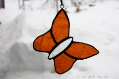Stained Glass Butterfly Ornaments