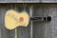 Stained Glass Guitar and Banjo Suncatchers