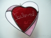 Inlay heart pattern with 'beloved'