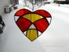 Funky, avant garde heart pattern