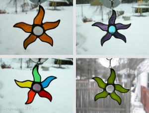 Dancing Star ornaments and suncatchers