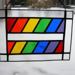 Rainbow equality stained glass