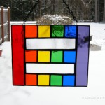 Equality rainbow stained glass