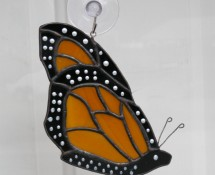 Monarch butterfly in stained glass