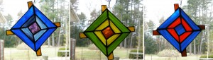 God's eye stained glass, Ojo de Dios stained glass