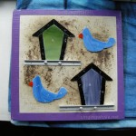 All cut out - first samples of a birdhouse nightlight with a small bird.