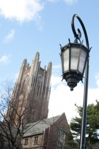 Wellesley College - Galen Stone Tower and iconic lamp with post. Photo by Amy J. Putnam '90