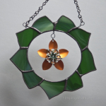 stained glass wreath and scale maille flower