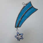 Shooting stars - mixed media stained glass chainmaille